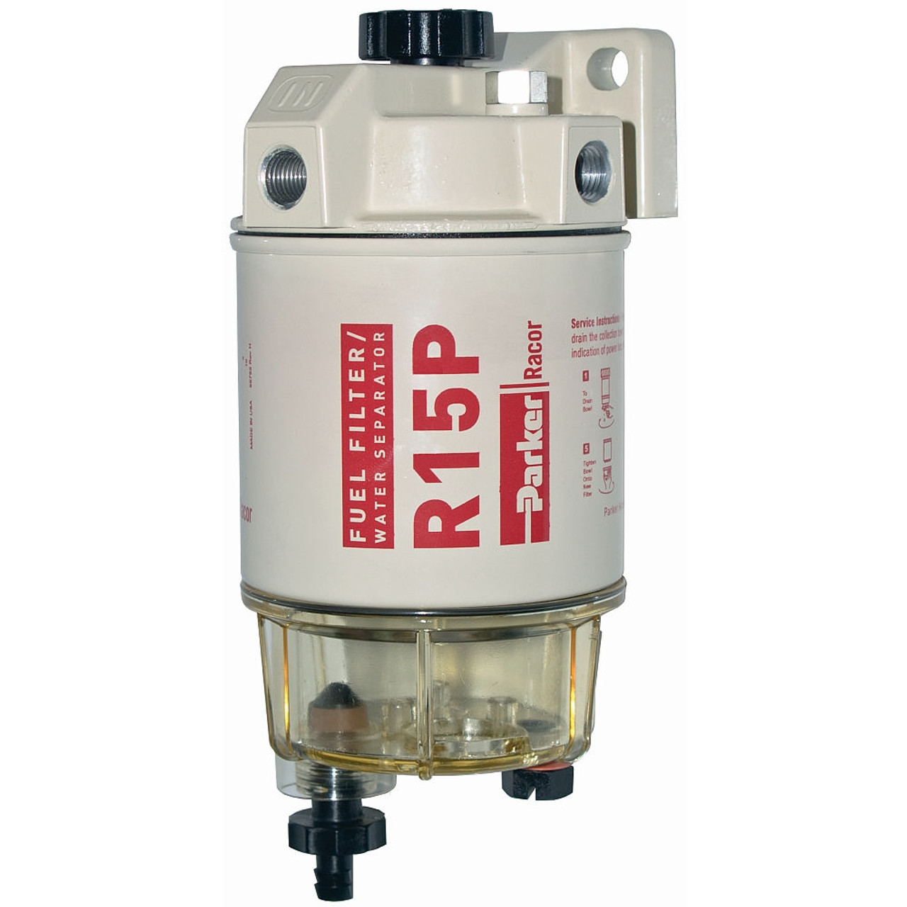 medium resolution of racor 200 series 15 gph low flow diesel fuel filter water separator 215 filter assembly