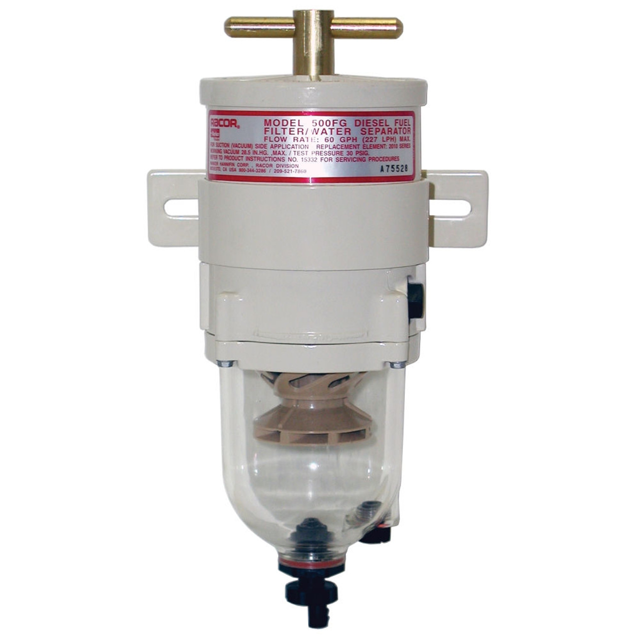 hight resolution of racor turbine series 60 gph fuel filter water separator 30 micron