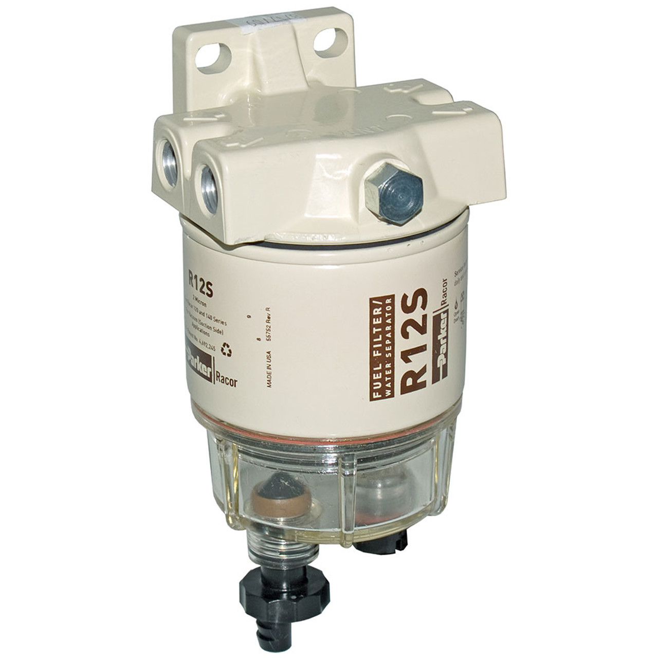 racor 120a low flow fuel filter water separator filter assembly 2 micron [ 1000 x 1000 Pixel ]