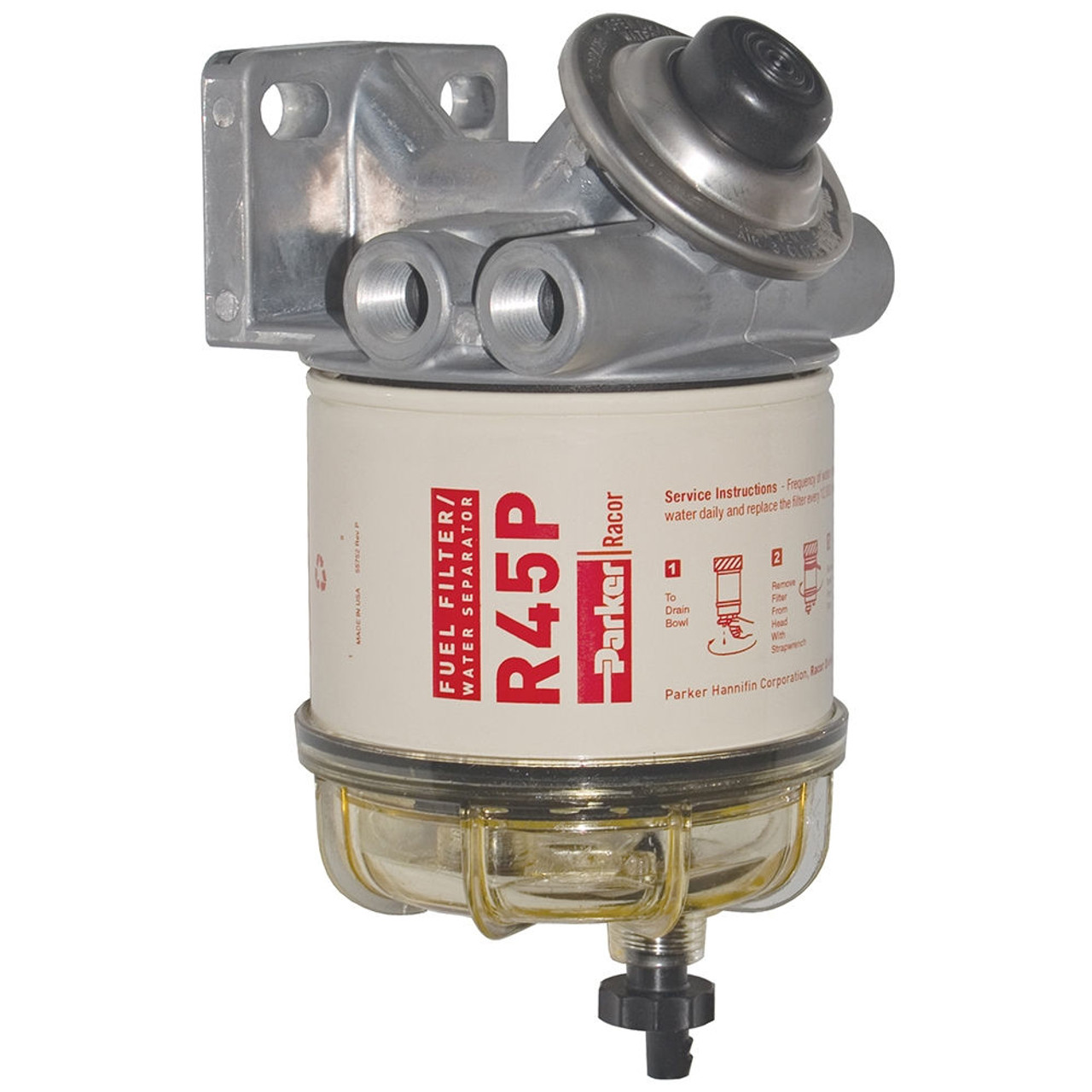 medium resolution of racor 400 series 45 gph diesel spin on fuel filter 30 micron 6