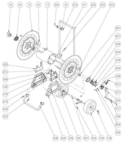 N 800 Series Spring Rewind Reel Parts