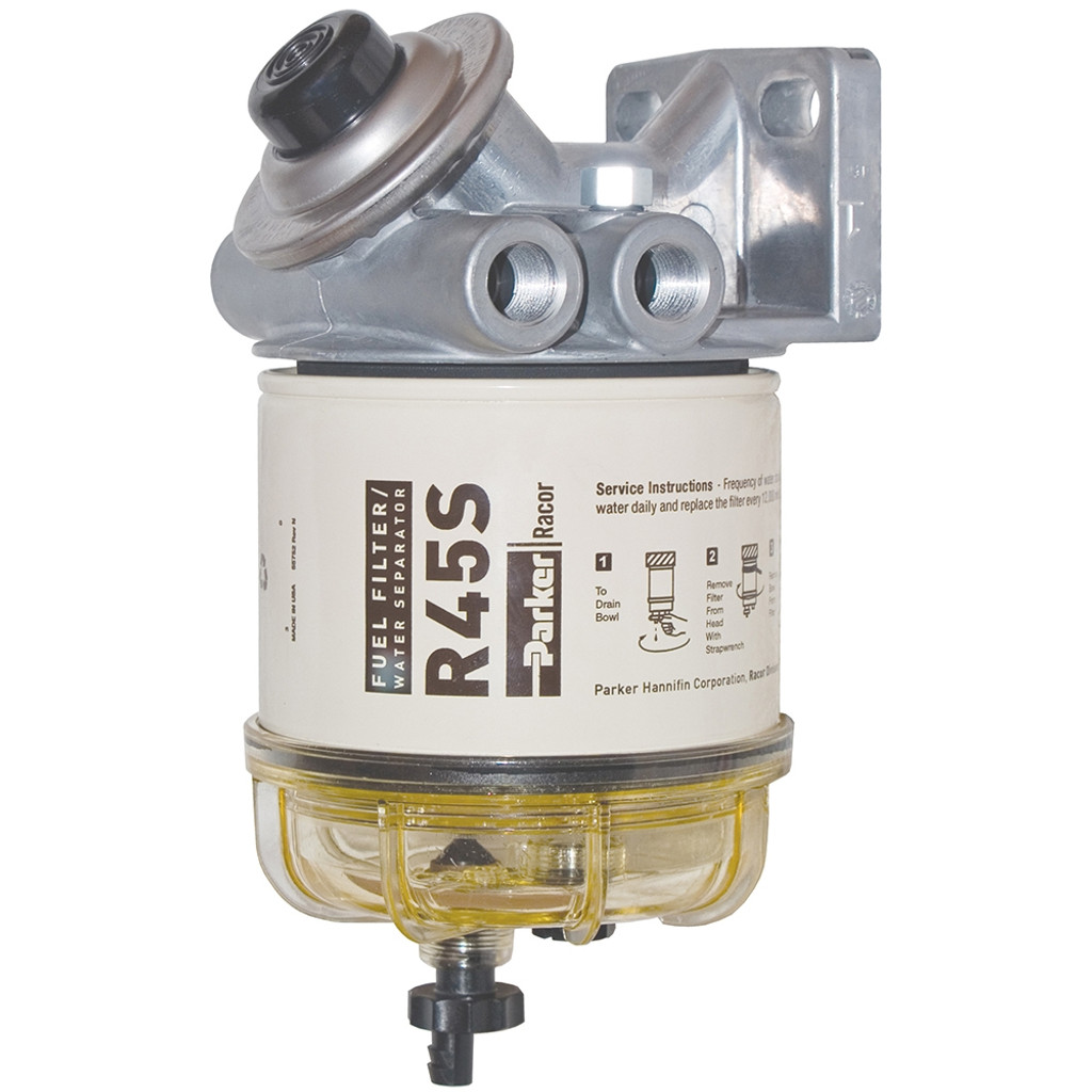 small resolution of racor 445r2 fuel water separator housing with primer