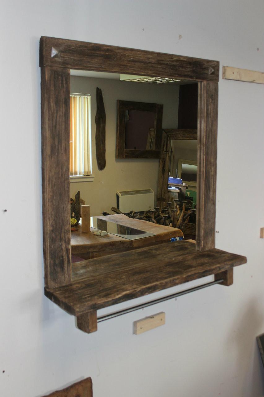 industrialvintagesalon barber shop mirror station