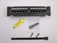 Cat6 Vertical Wall-Mount Mini Patch Panel 12 Port ...