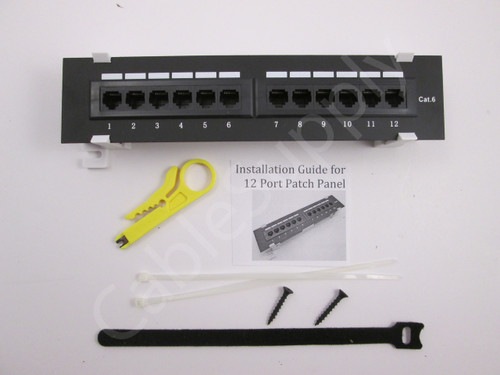 Patch Cable Wiring Install Ethernet Cat 5 Cat 6 Patch Panel