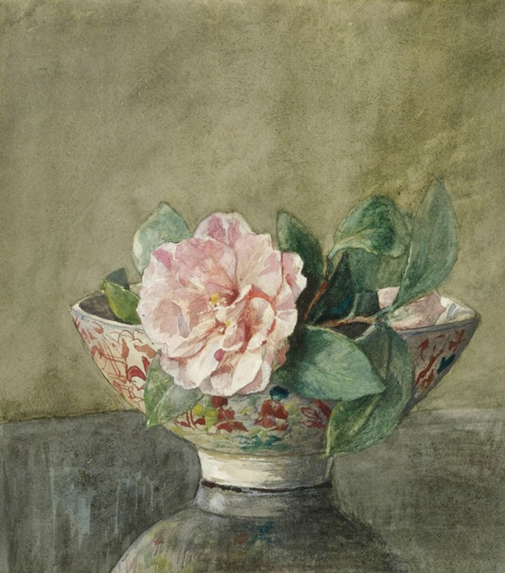 John La Farge, Camellia in an Old Chinese Vase