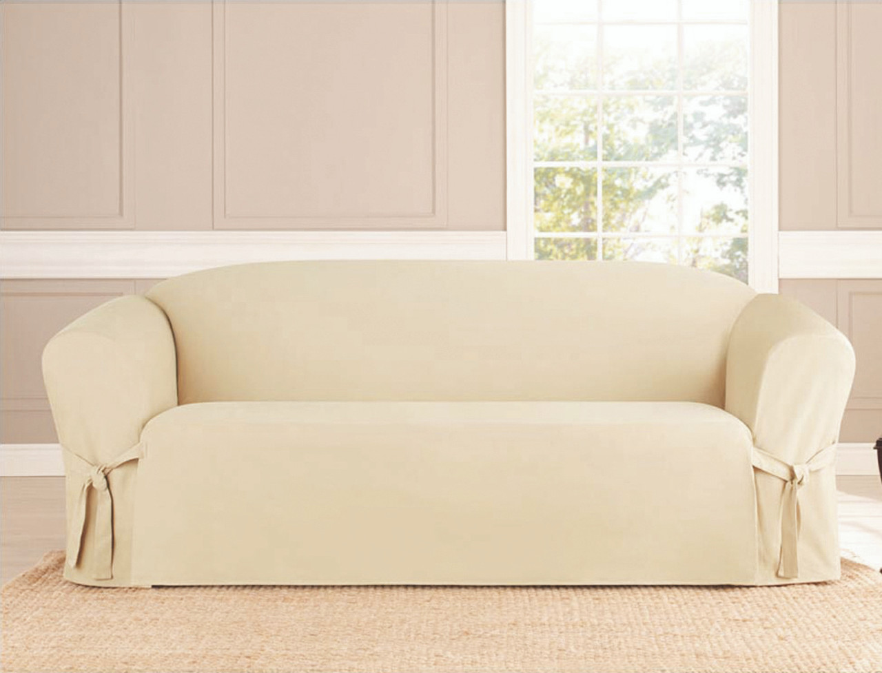 sure fit stretch plush 2 piece t sofa slipcover pillows for cream leather suede slipcovers couch bath ...