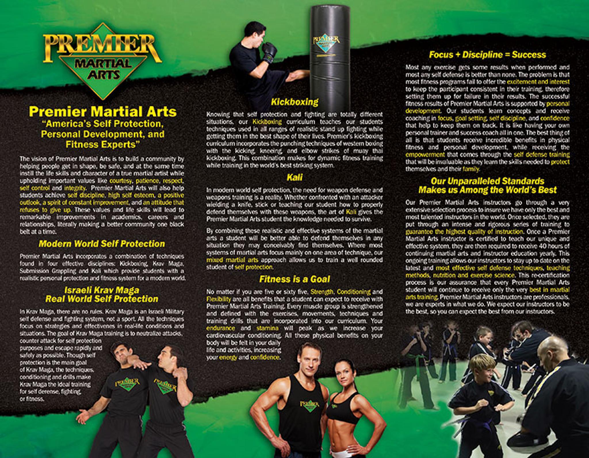School Brochure - Martial Arts Marketing