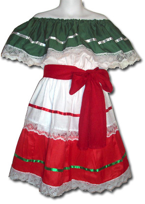 Girls Mexican Fiesta Traditional Dress Size 10  My Mercado Mexican Imports