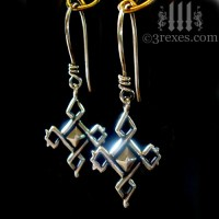 Celtic Cross Charm Earrings .925 Sterling Silver | 3 Rexes ...