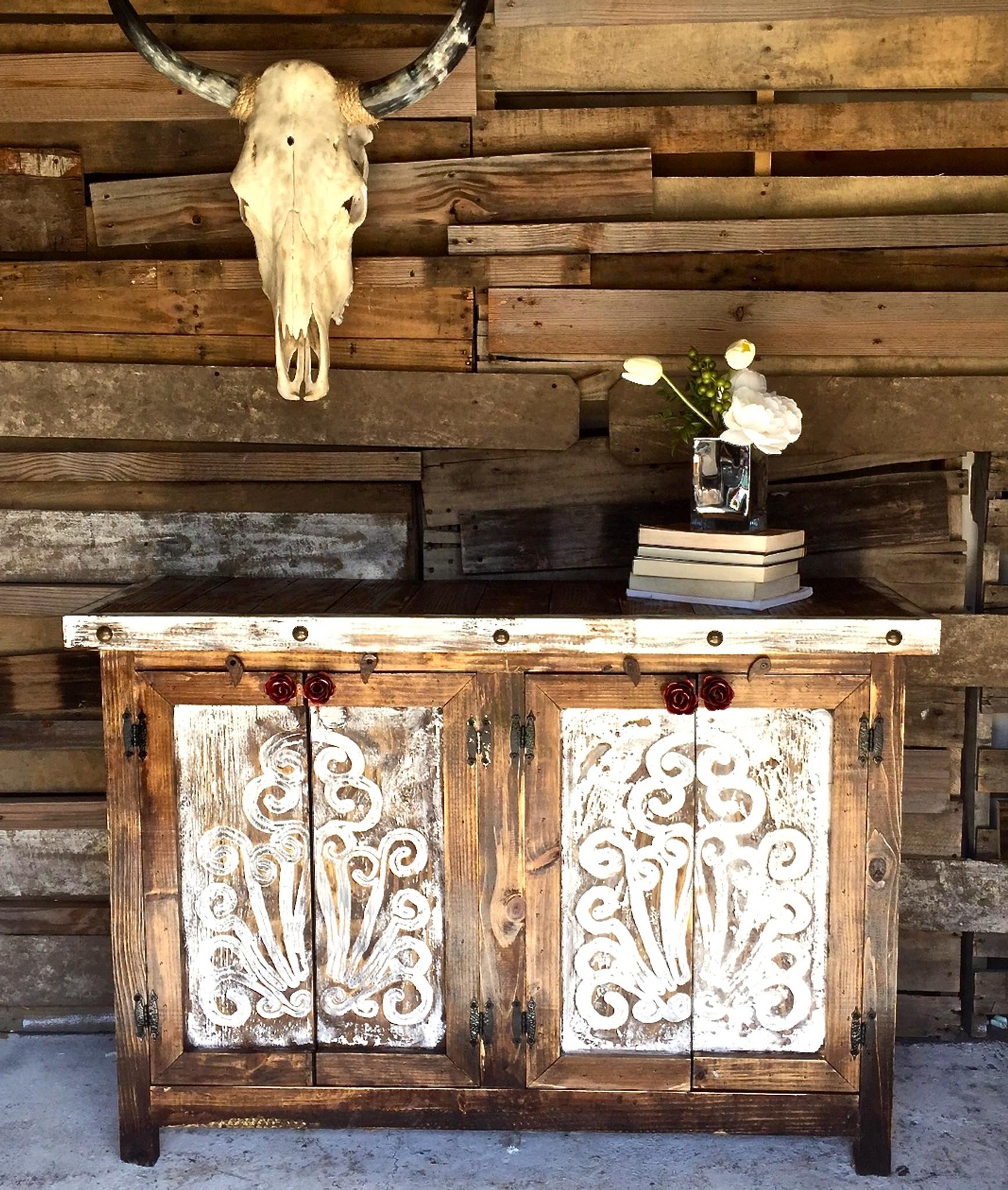 Agave Rose Door Buffet Sofia S Rustic Furniture