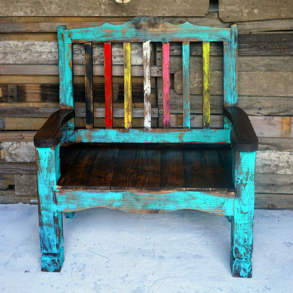 Zarape Rustic Bench Sofia S Rustic Furniture