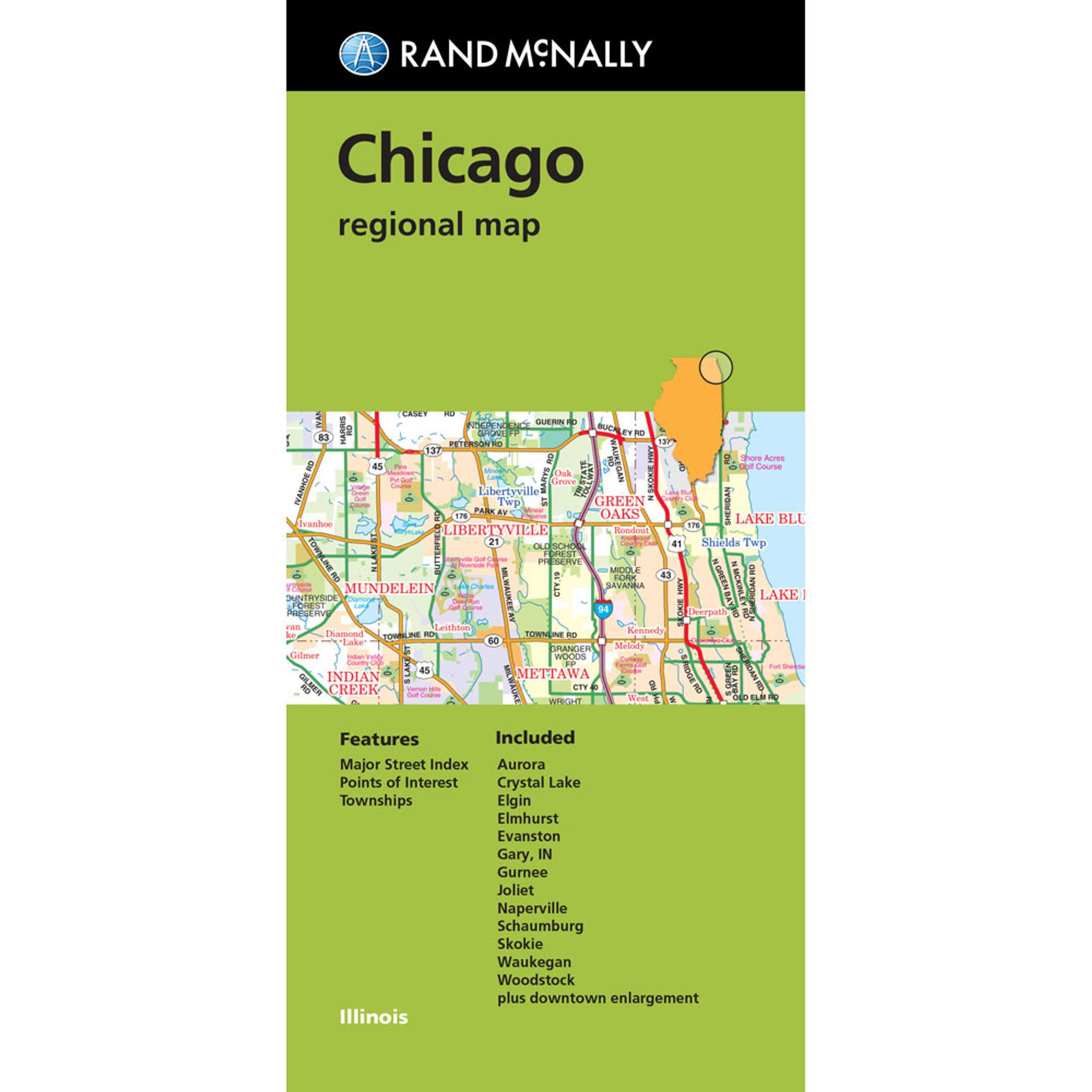 Folded Map Chicago Il Regional