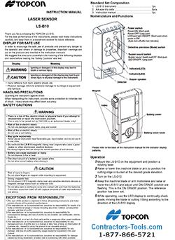 Topcon LS-B10W Machine Control Laser Receiver 312660111