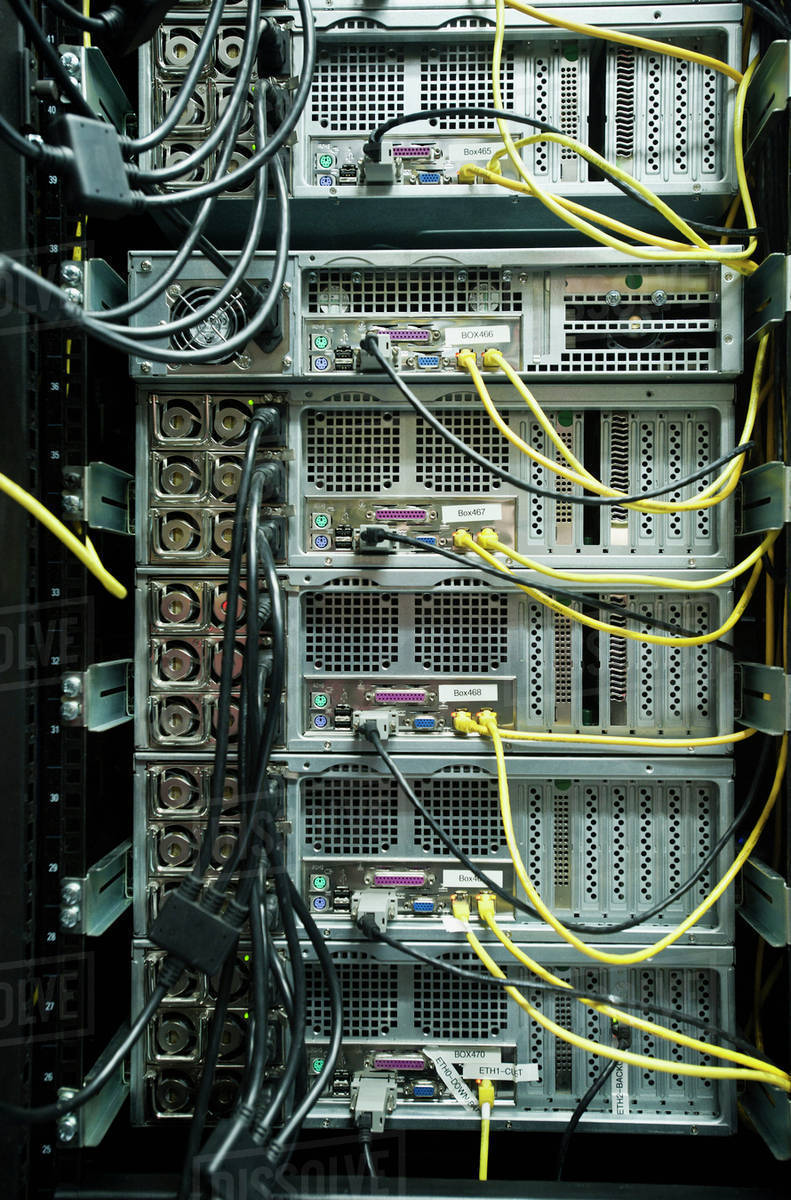 hight resolution of close up of server rack and wires stock photo dissolve server rack wiring examples close up