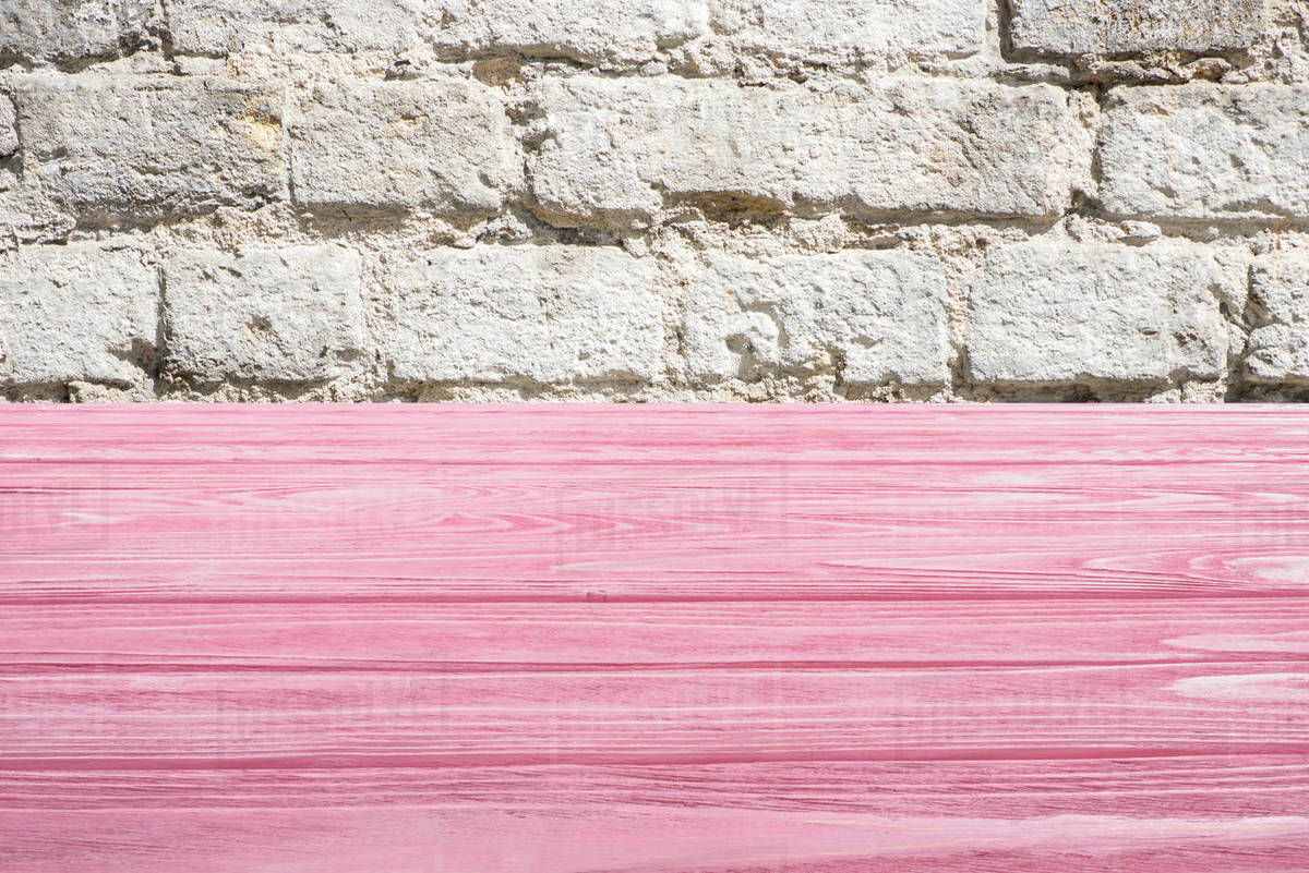 template of pink wooden