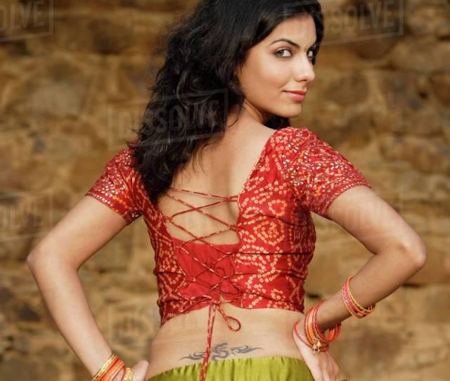 Sexy Woman In Sari Tattoo