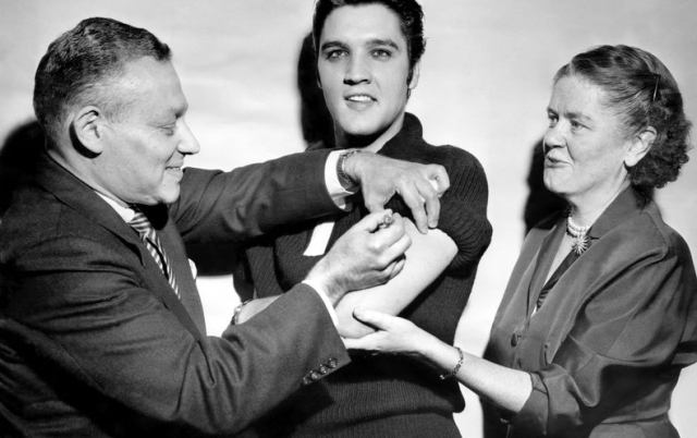 elvis vaccine • Elvis Presley Gets the Polio Vaccine on The Ed Sullivan Show, Persuading Millions to Get Vaccinated (1956) Health, History, television