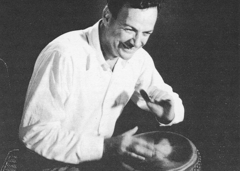 Image result for richard feynman playing bongos images