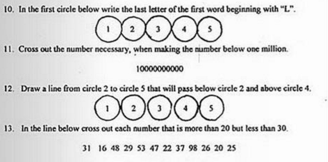 Take The Near Impossible Literacy Test Louisiana Used to