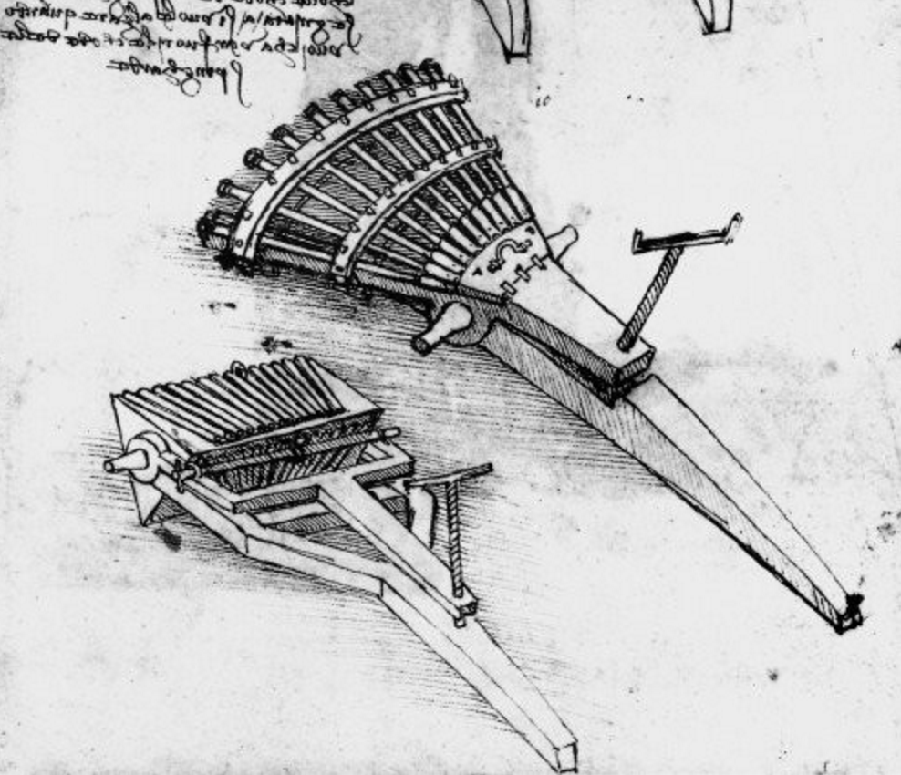 Leonardo da Vinci Draws Designs of Future War Machines