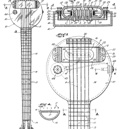 frying pan schematic the names leo fender and les  [ 1680 x 2712 Pixel ]