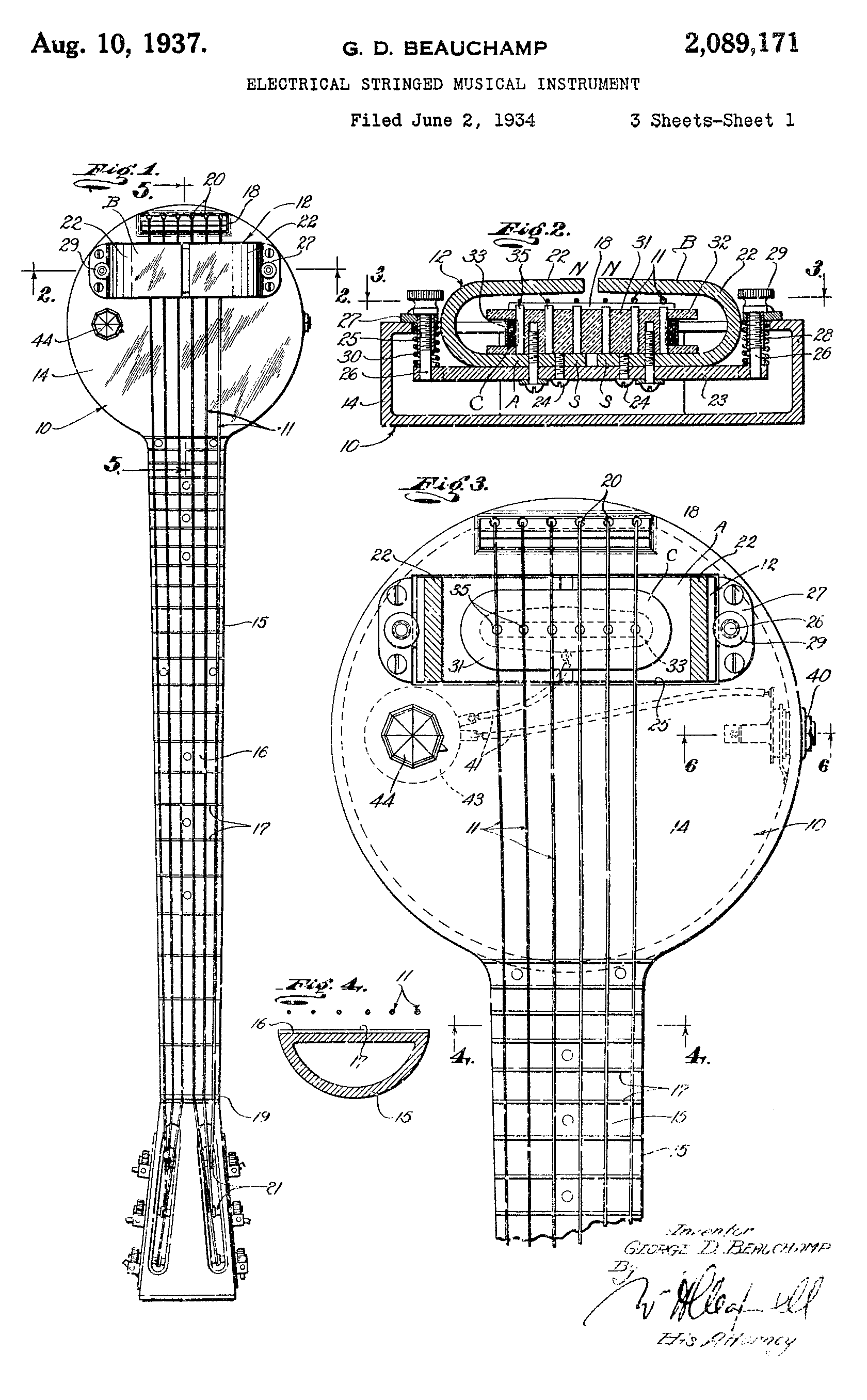 hight resolution of frying pan schematic the names leo fender and les