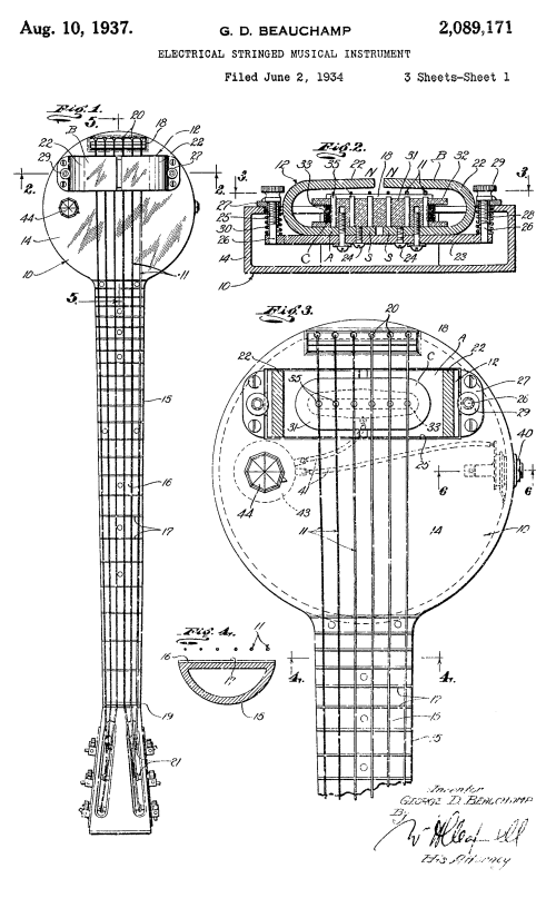 small resolution of frying pan schematic the names leo fender and les