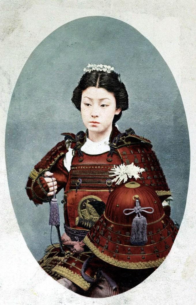 female samurai warriors immortalized in 19th century