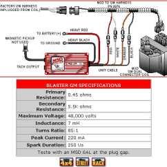 Msd Wiring Diagram Hei 93 S10 Stereo Blaster Gm Dual Connector Coil - Pelicanparts.com