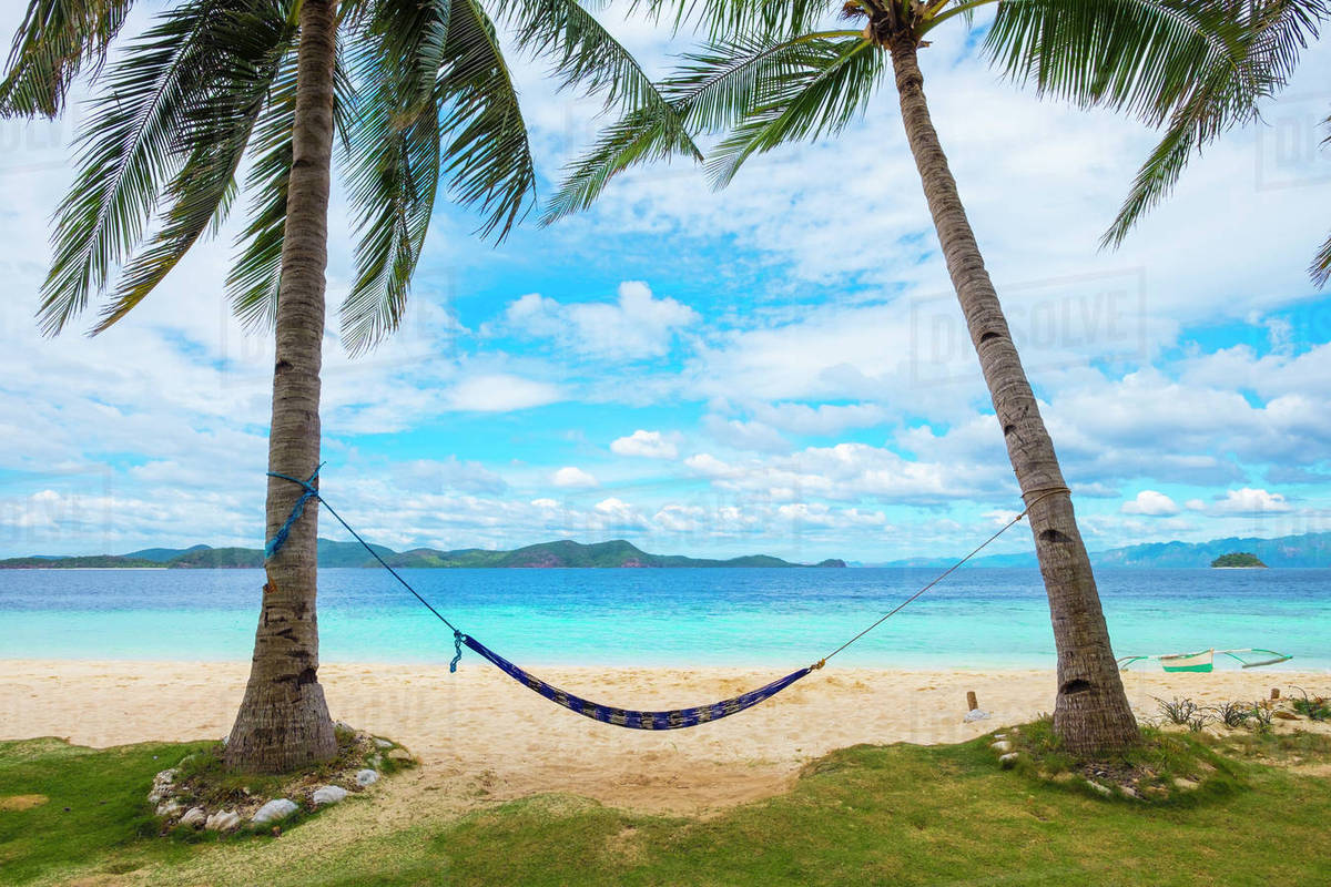 empty hammock between two