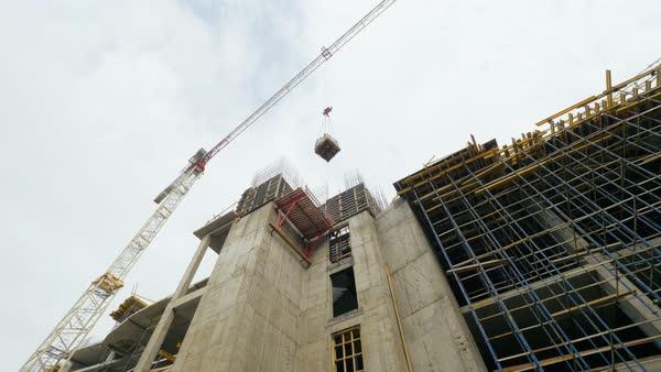 industrial crane working on