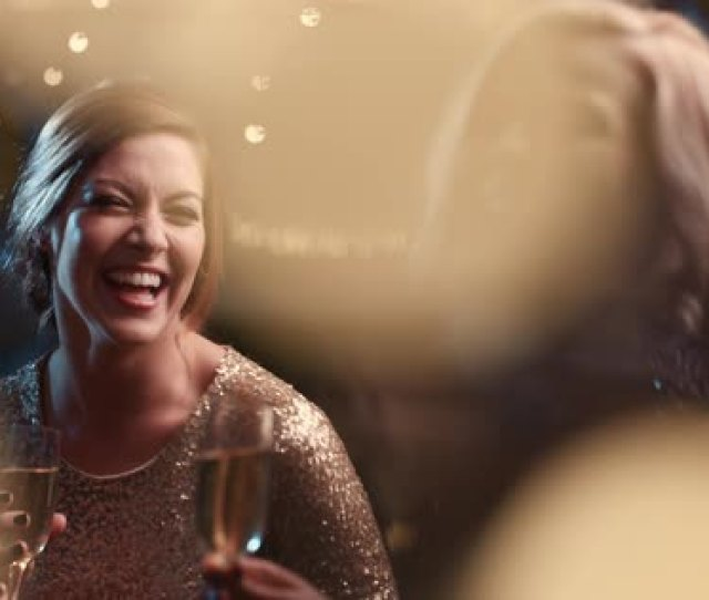 Beautiful Woman Dancing Having Fun At Glamorous Sexy Party Drinking Alcohol Celebrating Holidays Stock Video Footage Dissolve