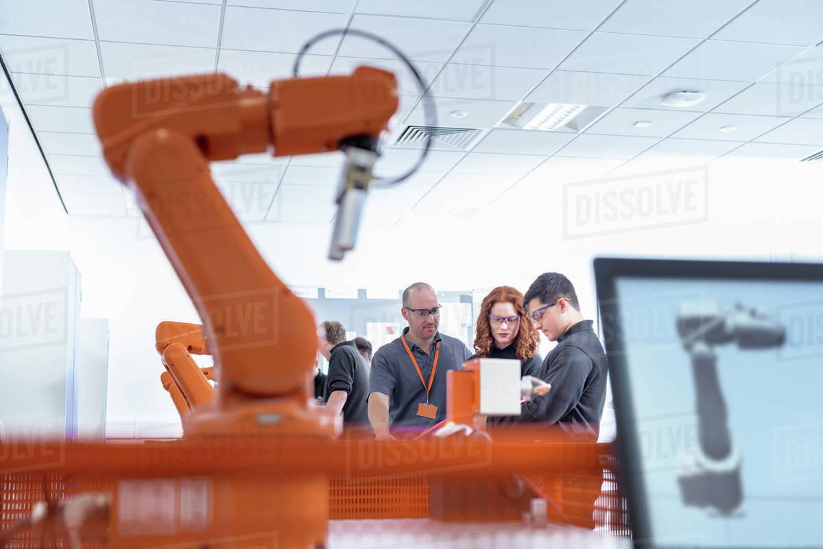 robotics apprentices using test