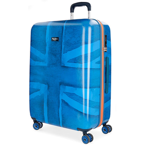 Troler PEPE JEANS LONDON Fabio, 69cm, albastru