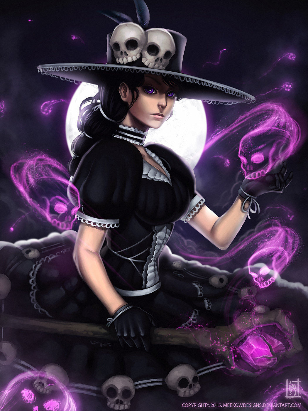Artstation - Gothic Witch Michael Abellera
