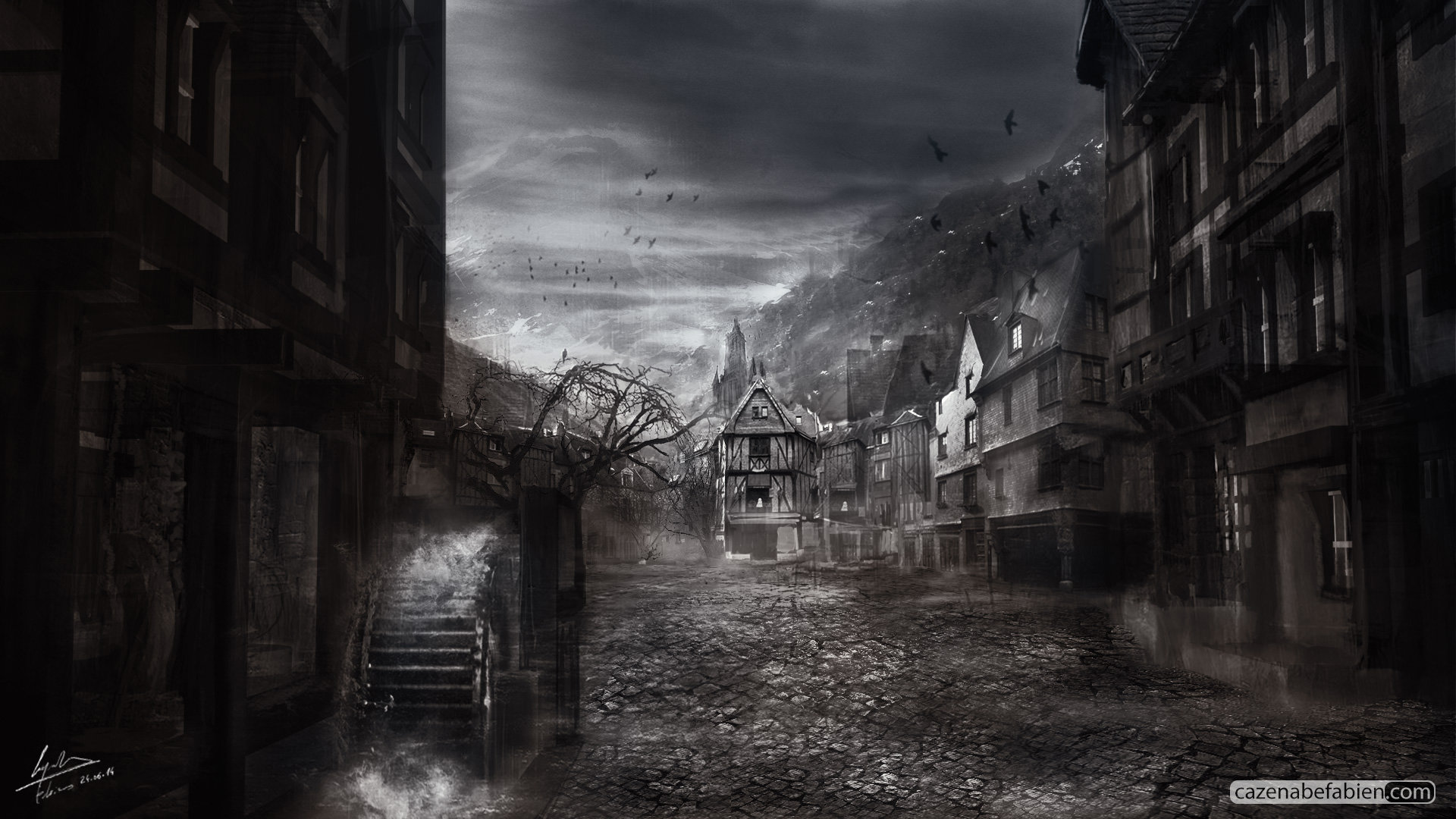 Artstation - Concept Art Horror Game Fabien Cazenabe