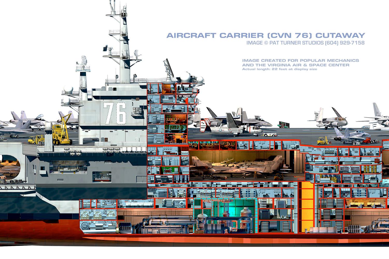 aircraft carrier diagram tool to create er artstation uss reagan cutaway