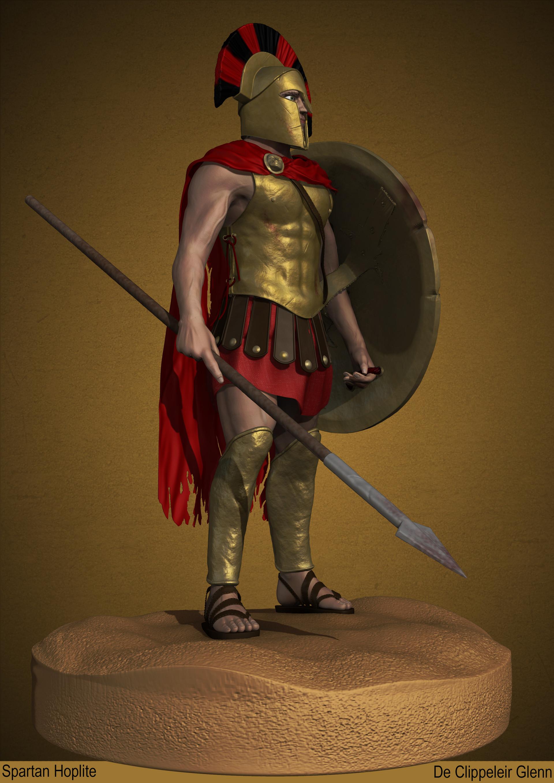 Artstation - Spartan Hoplite Glenn De Clippeleir