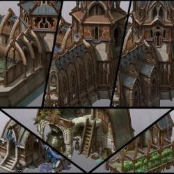 ArtStation Spellforce 3 Elven buildings Vladimir Krisetskiy