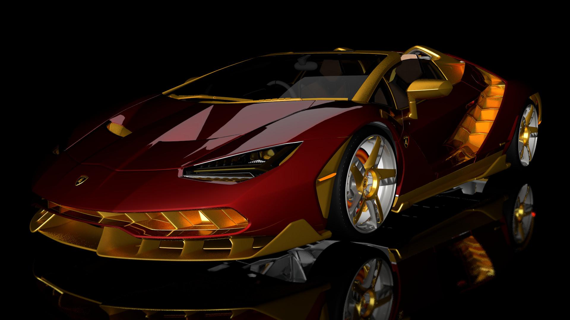Artstation Lamborghini Centenario Roadster Eric Walker