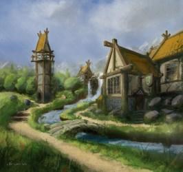 Concept Art Fantasy Town