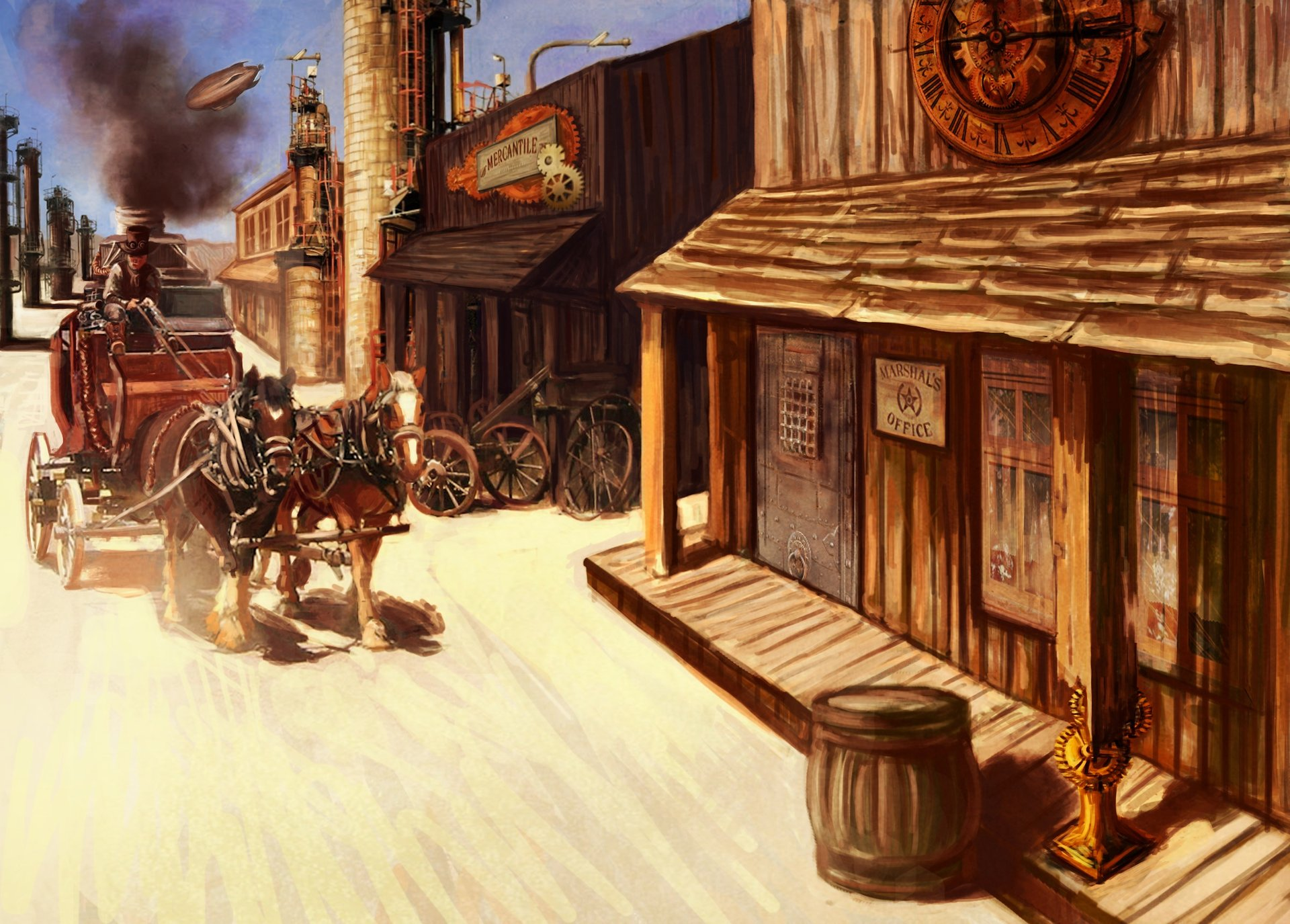 Old West Town Paintings