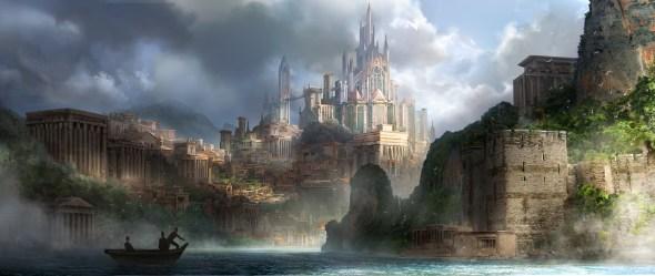ArtStation coastline castle Shen Fei