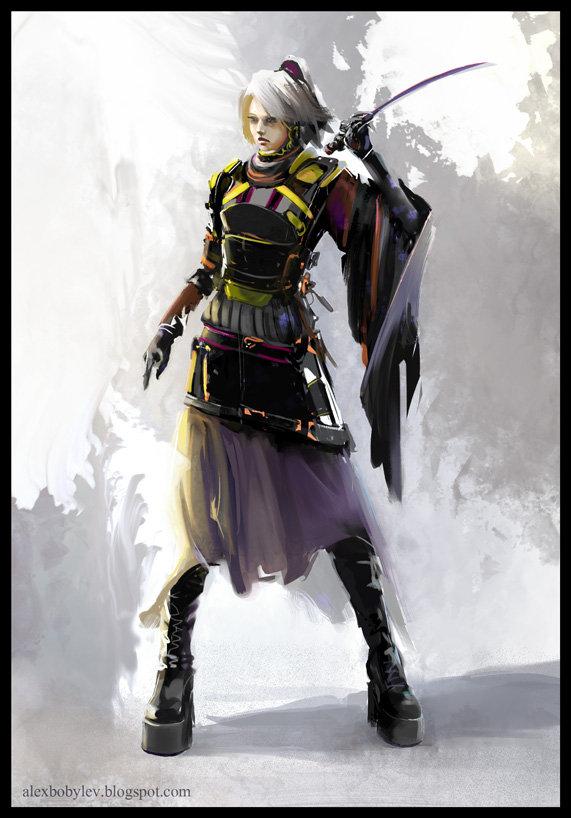 ArtStation  Cyberpunk Ninja Alex Bobylev