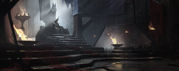 throne fantasy concept artwork dark castle artstation krystian biskup royal