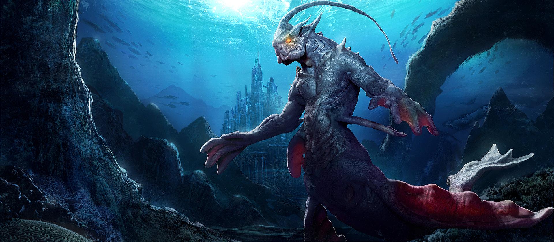 Artstation - Sea Creature Lorenz Basuki