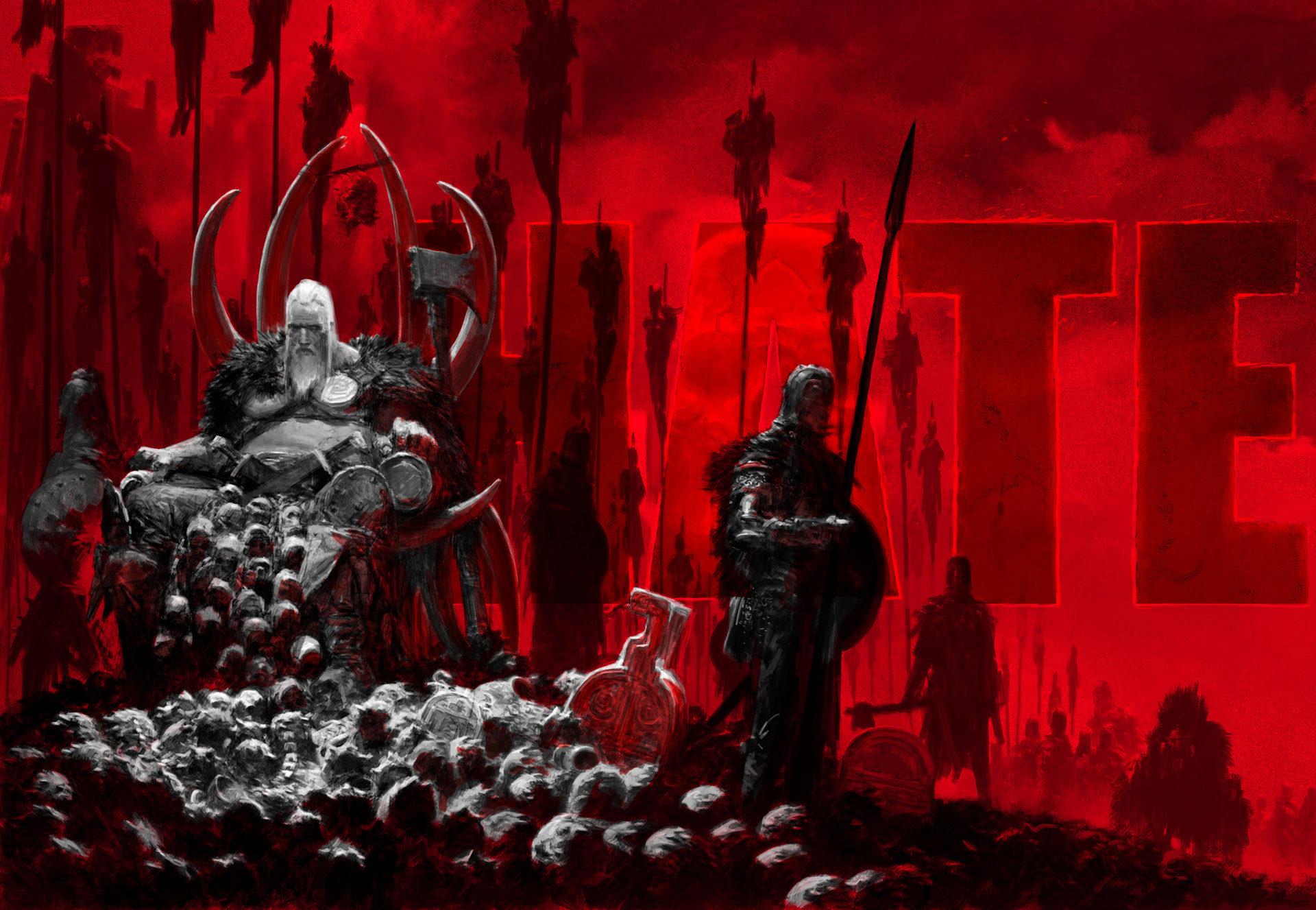 Artstation - Promo Art 'chronicles Of Hate' Graphic Adrian Smith