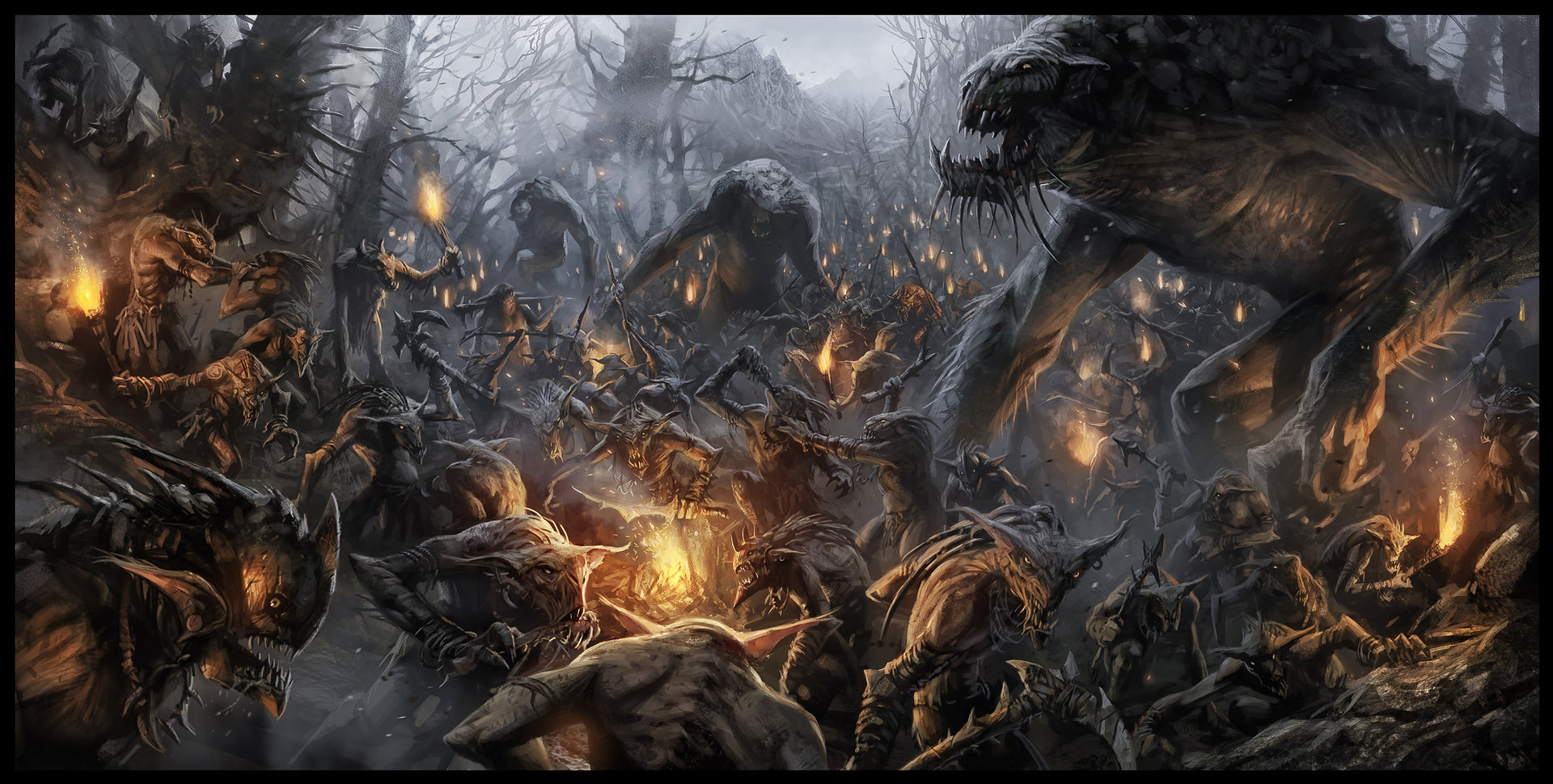 Shadows of Mordor Middle Earth Art