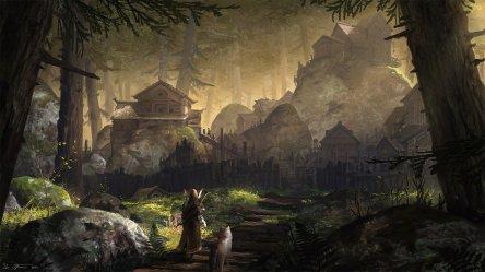 forest village artstation fantasy cdna asse